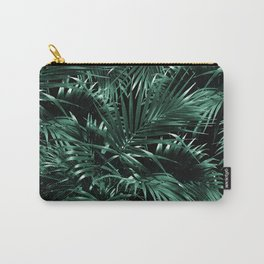 Tropical Palm Leaf Jungle Night #1 #tropical #decor #art #society6 Carry-All Pouch