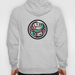 Northwest Pacific coast Otter chasing Salmon Hoody