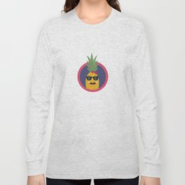 Cool pineapple with sunglasses Long Sleeve T-shirt