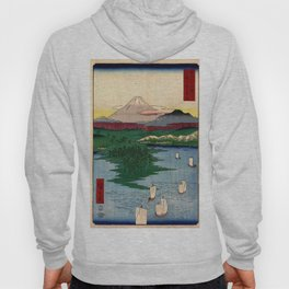 Hiroshige - 36 Views of Mount Fuji (1858) - 15: Noge and Yokohama in Musashi Province Hoody