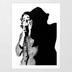 Lila Crane Art Print