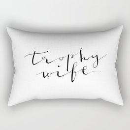 Trophy Wife Modern Calligraphy Rectangular Pillow