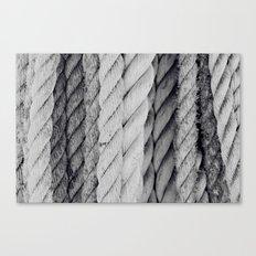 Ropes Black and White Nautical Canvas Print