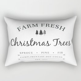 Christmas Tree Farm Art Print Gift Rectangular Pillow