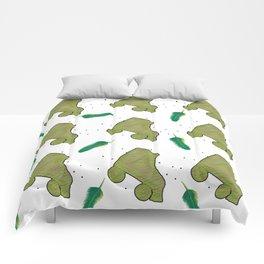 Fun in green Comforters
