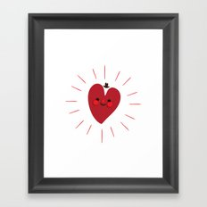 Happy Heart Framed Art Print