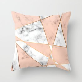 Marble Geometry 050 Throw Pillow