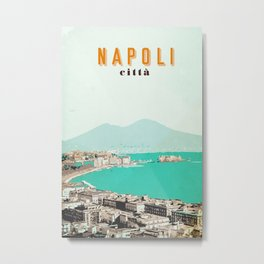 Napoli Città Italy Poster Print Placard Home Room Art Wall Decor Gift for Men Women Him Her Metal Print