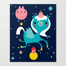 Space Unicorn Canvas Print