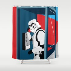 Stormtrooper Phone Home Shower Curtain
