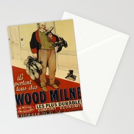 wood milne oude poster Stationery Cards