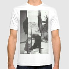 Caribou MEDIUM White Mens Fitted Tee