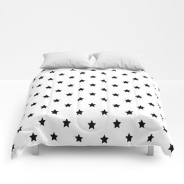 Black and white Star Pattern Comforters