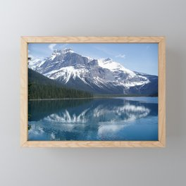 Mountain Across Emerald Lake Framed Mini Art Print