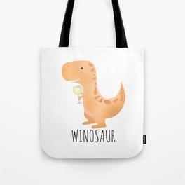 Winosaur | White Wine Tote Bag