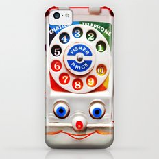 Retro Vintage smiley kids Toys Dial Phone iPhone 4 4s 5 5s 5c, ipod, ipad, pillow case and tshirt Slim Case iPhone 5c