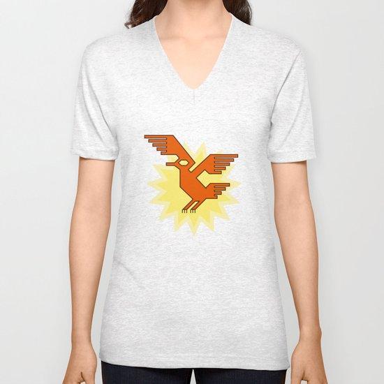 Geometric Andean Condor Bird Unisex V-Neck