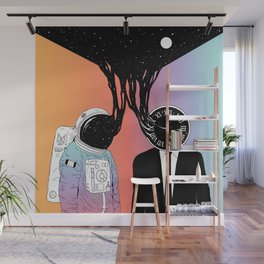 A Portrait of Space and Time ( A Study of Existence) Wall Mural