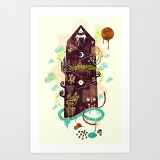 The Ominous and Ghastly Mont Noir Art Print