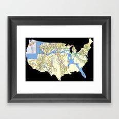MTAmerica Framed Art Print