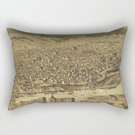 Vintage Pictorial Map of Tacoma WA (1890) Rectangular Pillow