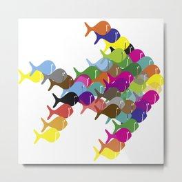 fish swarm swim Metal Print