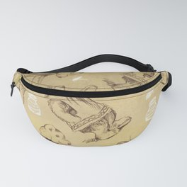 Cute bears and honey pattern Fanny Pack