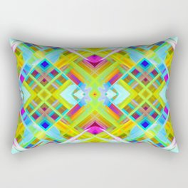 Colorful digital art splashing G471 Rectangular Pillow