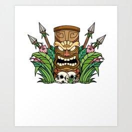Awesome Tiki Bar Gift Print Hawaiian Island Vacation Product Art Print