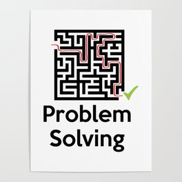 Problem Solving Maze Poster