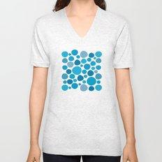 Blue Dots Unisex V-Neck