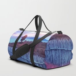 Sunset and lone tree Duffle Bag