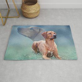 Rhodesian Ridgeback Dog Collage Rug