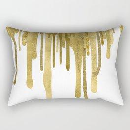 Gold paint drips Rectangular Pillow