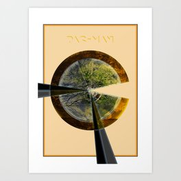 Gold Tree Pac-Man Art Print