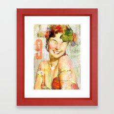 The girl of the 9th floor Framed Art Print