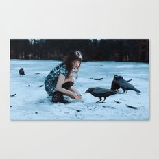 playful omens Canvas Print