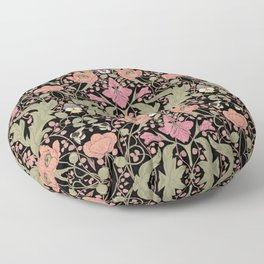 Spring Pattern with Poppy Flowers and Gladioli II Floor Pillow