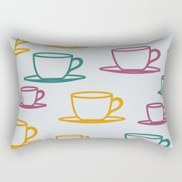 Teacups - multicolored Rectangular Pillow