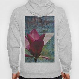 Magnolia on Blue Hoody