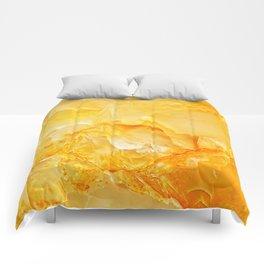 Yellow onyx marble Comforters