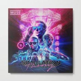 muse simulation theory album tour 2019 maupulang Metal Print