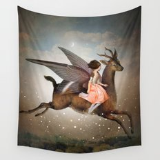 The Night Is Still Young Wall Tapestry