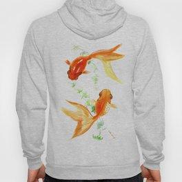 Goldfish, Feng Shui Asian Watercolor Hoody