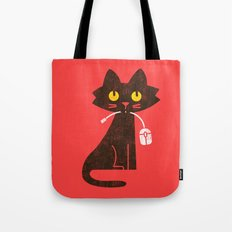 Fitz - Hungry hungry cat (and unfortunate mouse) Tote Bag