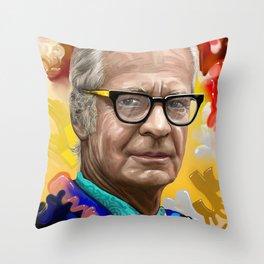 Burrhus Frederic Skinner Throw Pillow