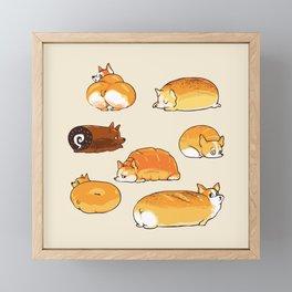 Bread Corgis Framed Mini Art Print