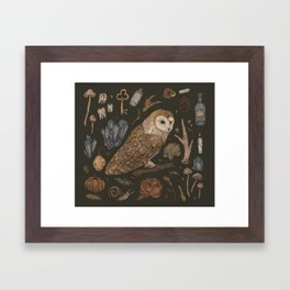 Harvest Owl Framed Art Print