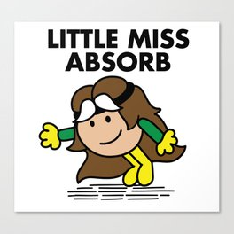 Little Miss Abosorb Canvas Print