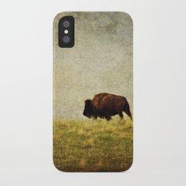 Lone Buffalo iPhone Case